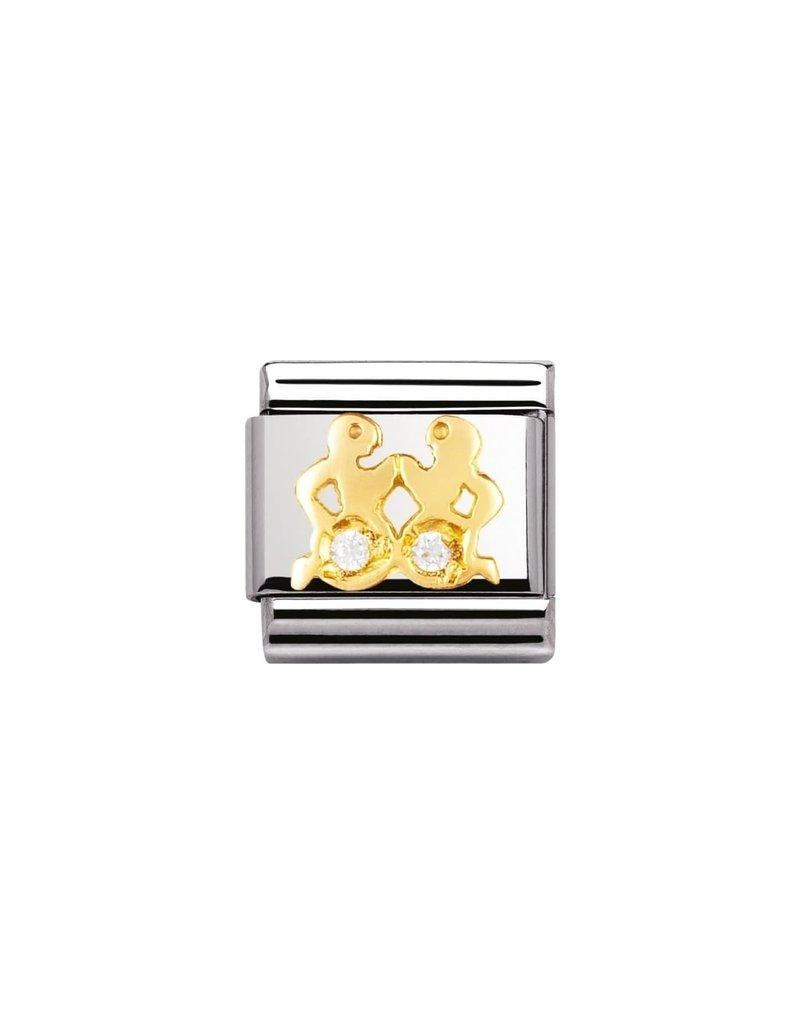 Nomination Composable 030302-03 Nomination Classic horoscoop tweeling met zirconia