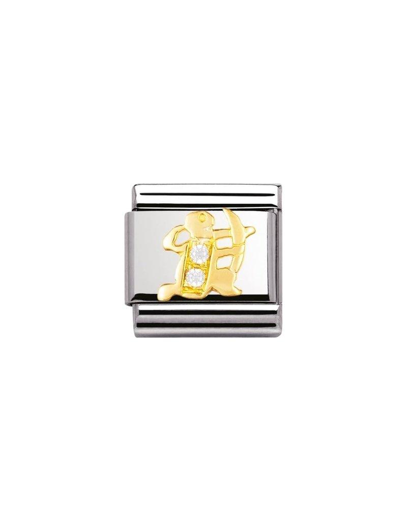 Nomination Composable 030302-09 Nomination Classic gouden horoscoop boogschutter met zirconia