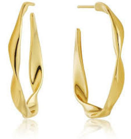 ANIA HAIE JEWELRY AH E012-04G Twist Hoops Earrings M