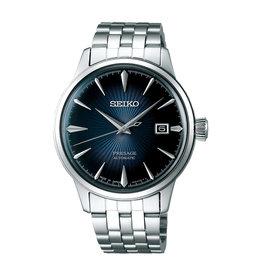 Seiko_Exclusive Seiko SRPB41J1 Horloge Presage Automatic Staal blauw