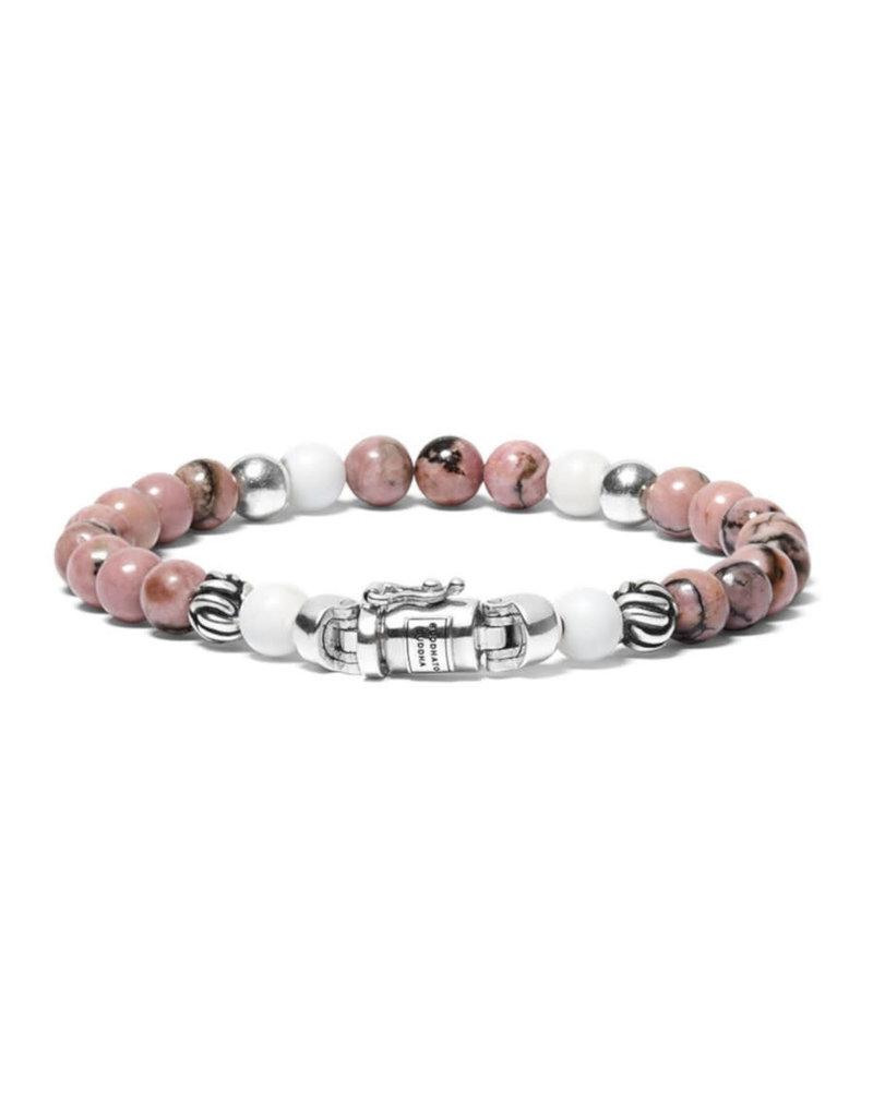 Buddha to Buddha BtoB 189PI E Armband Spirit Bead Mini Pink Rhodonite