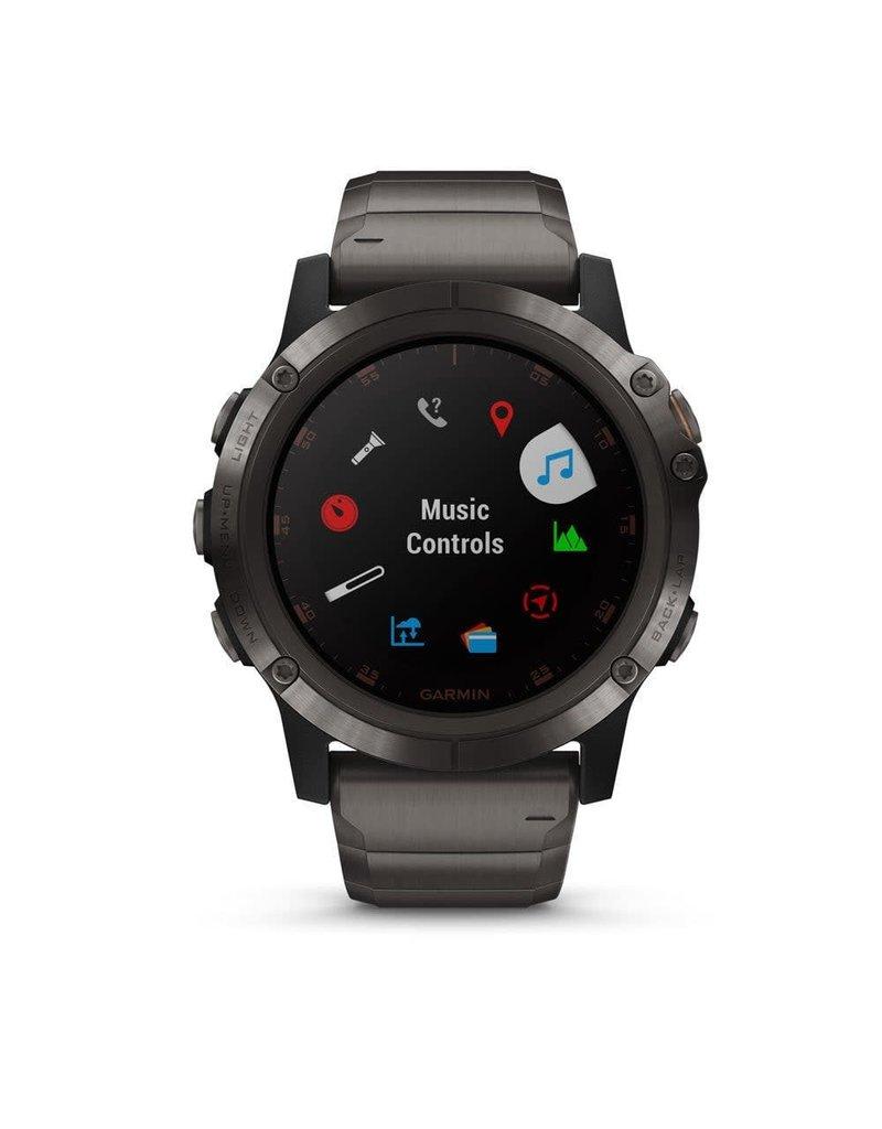 Garmin Garmin 010-01989-05 Smartwatch Fenix 5X plus Carbon Grey Titanium