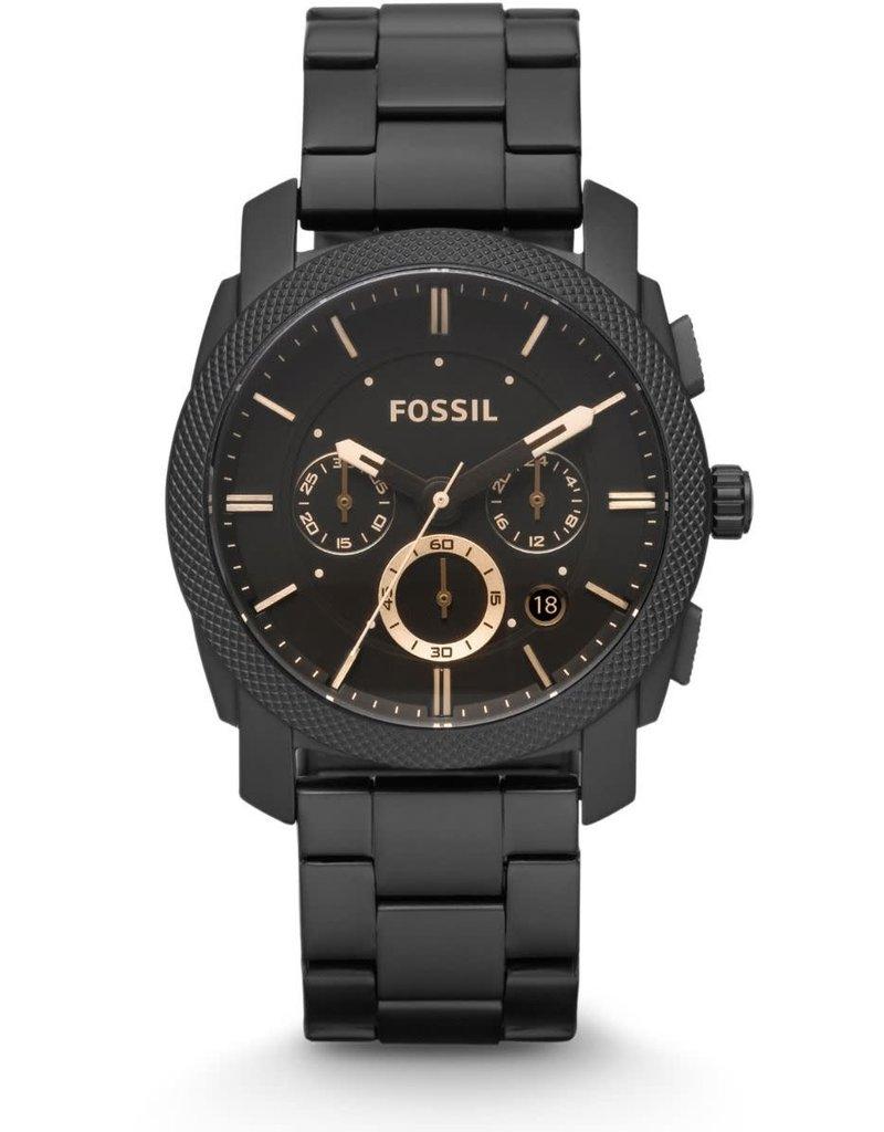 Fossil Fossil FS4682IE Horloge Chrono Zwart Staal
