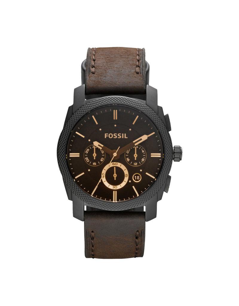 Fossil Fossil FS4656IE horloge Heren Chrono Zwart Leer