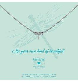 Heart to get HTG N288DRA16S Ketiing met Libelle Zilver