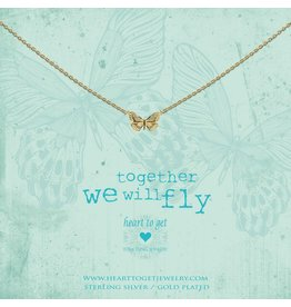 Heart to get HTG N359BUT17G Ketting Zilver Goldplated together we will fly
