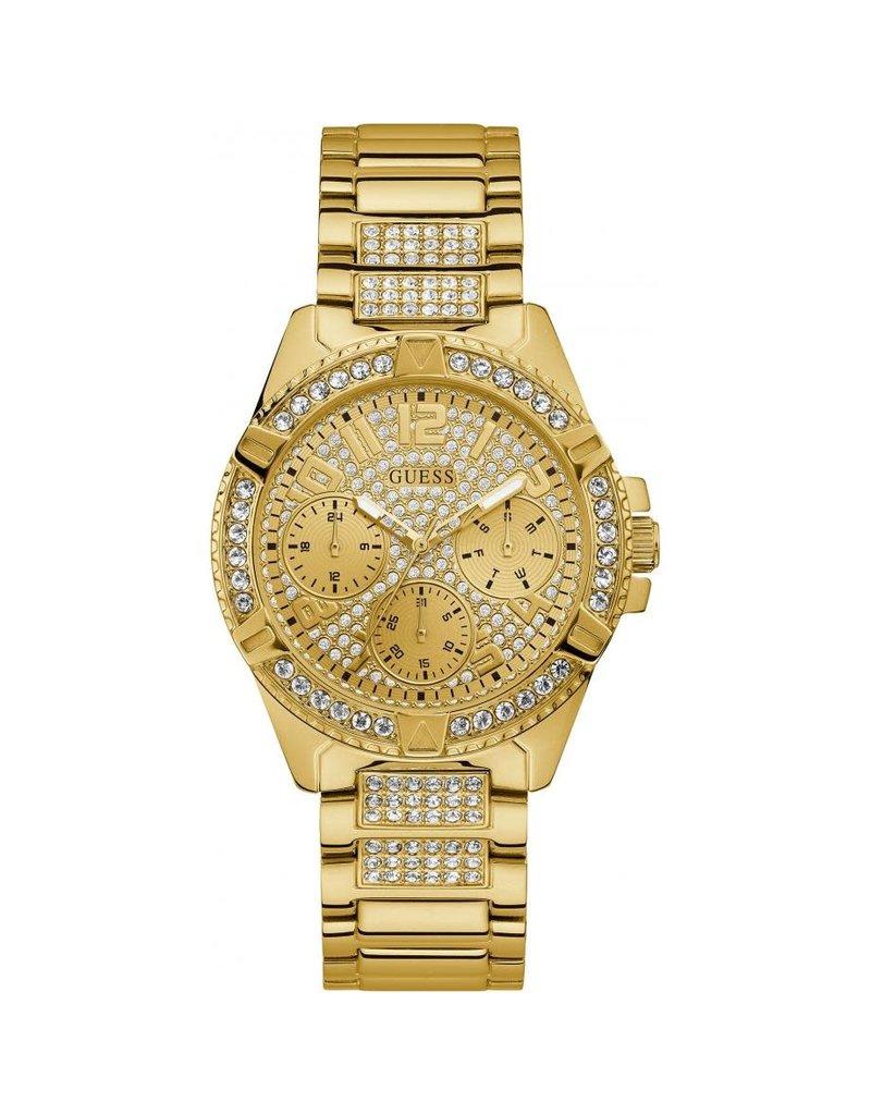 Guess Guess W1156L2 Horloge Dames Staal goudkleurig met Zirkonia