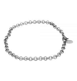 Kalli Kalli Kalli 2513 Armband Staal zilverkleurig