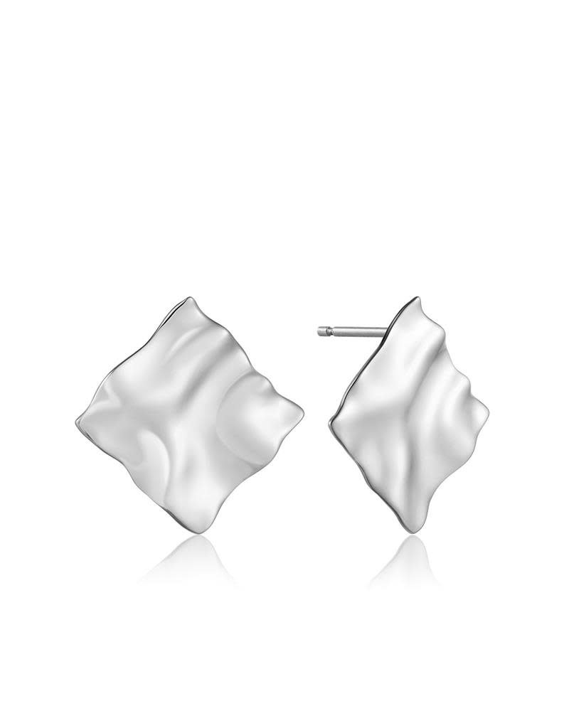 ANIA HAIE JEWELRY AH E017-03H Oorbellen Crush Square Zilver 2,5x2,5cm
