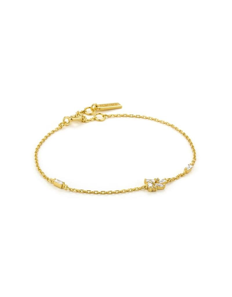 ANIA HAIE JEWELRY AH B018-02G Armband Zilver Goldplated  Cluster