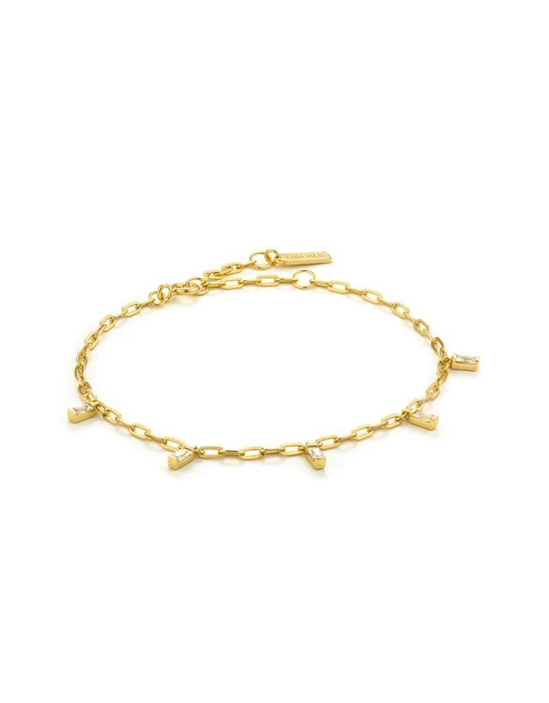 ANIA HAIE JEWELRY AH B018-01G Armband Zilver Goldplated Glow drop