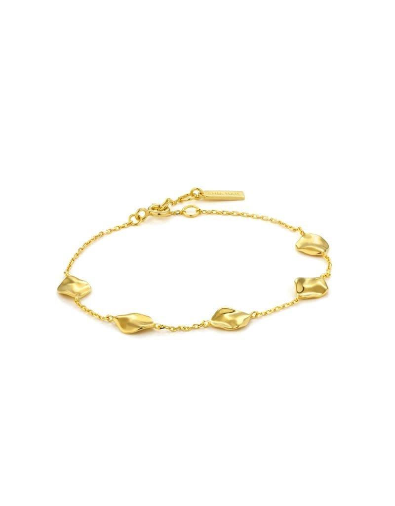 ANIA HAIE JEWELRY AH B017-03G Armband Zilver Goldplated Crush Multiple Discs