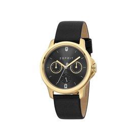 Esprit Esprit ES1L145L0035 Horloge Staal Goldplated Leren Band