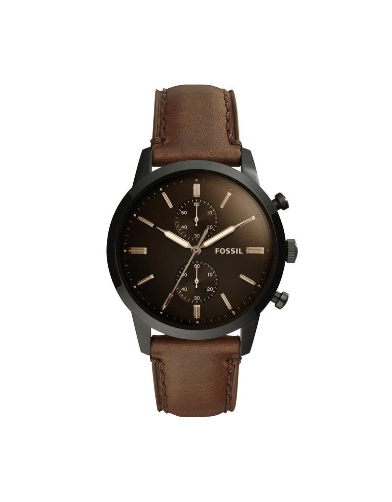 Fossil Fossil FS5437 Horloge heren Zwart Chrono