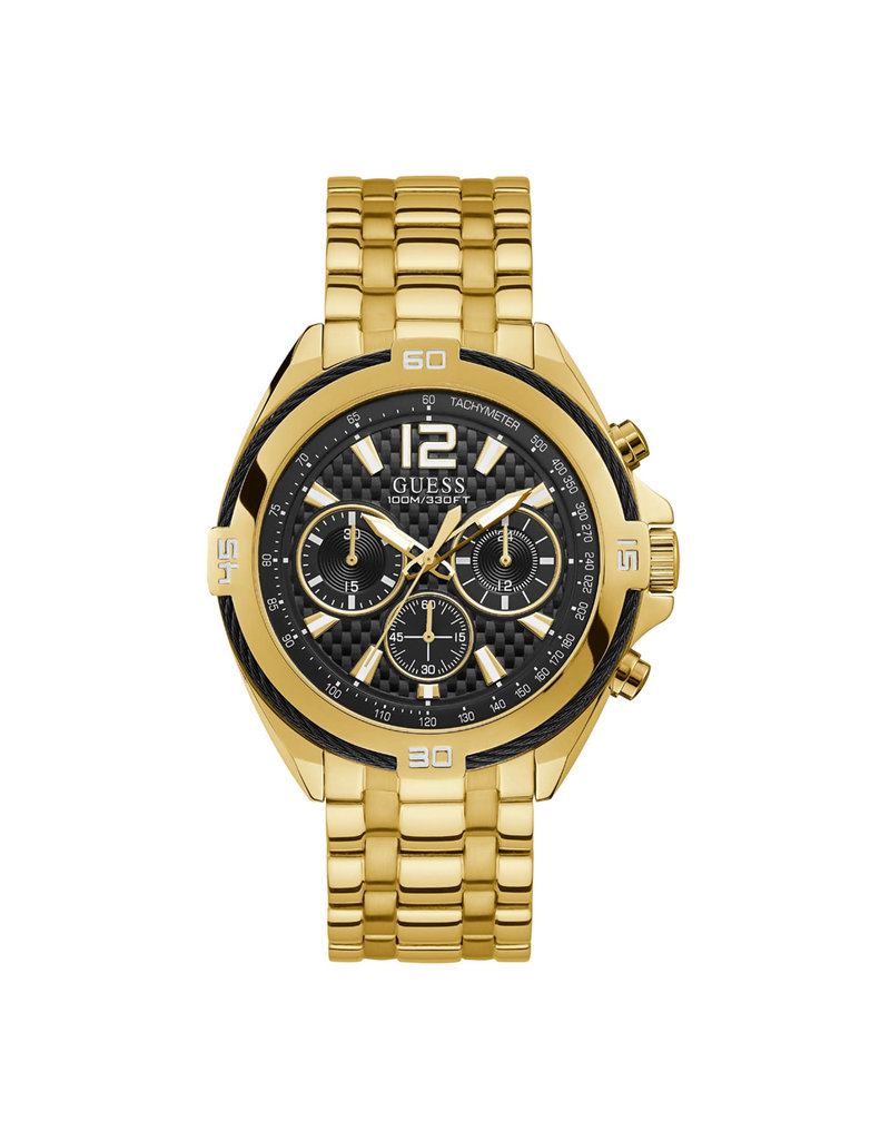 Guess Guess W1258G2 Horloge Heren Chrono Staal Goud
