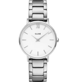 Cluse Cluse CW0101203026 Horloge Minuit White/Silver