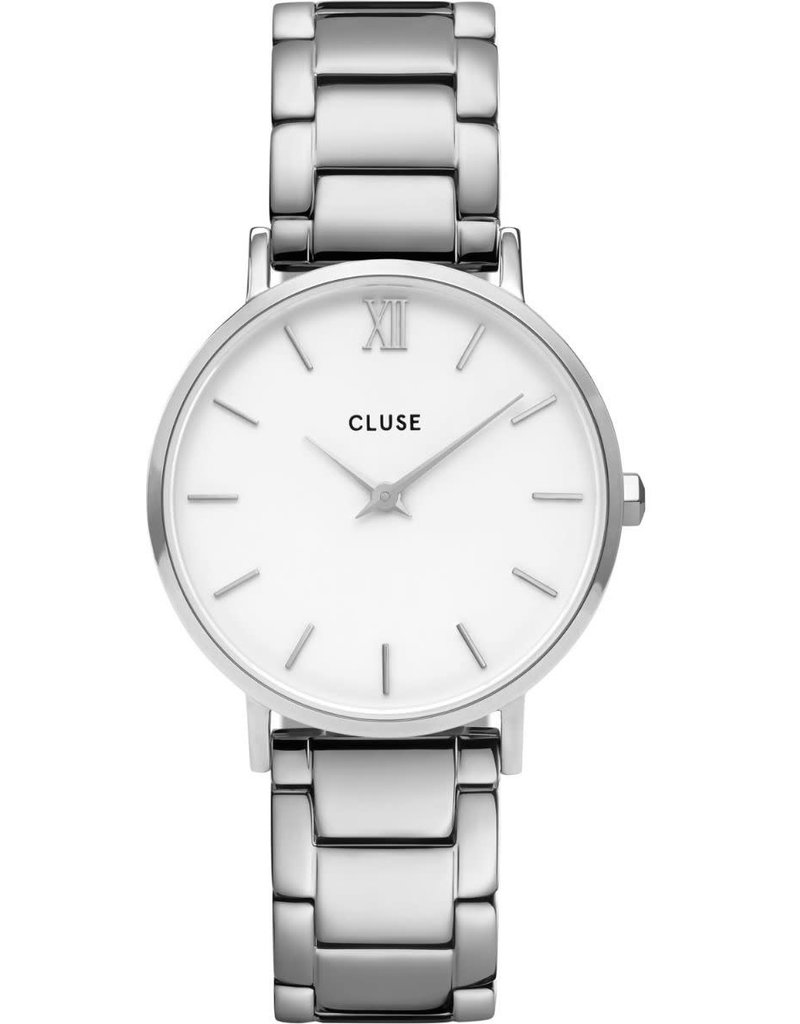 Cluse Cluse CW0101203026 Horloge Minuit White/Silver