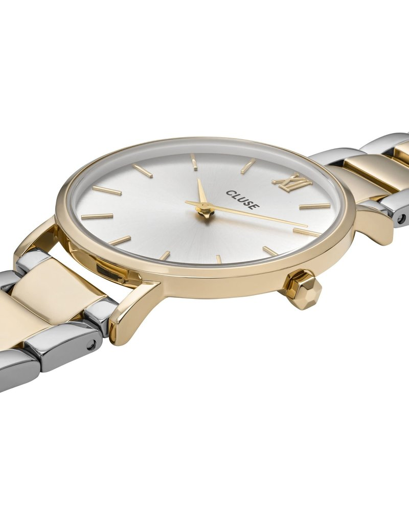 Cluse Cluse CW0101203028 Horloge Minuit Silver, Gold/Silver