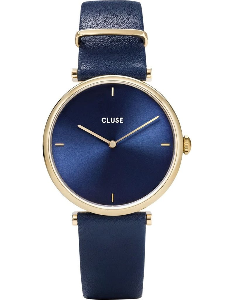 Cluse Cluse CW0101208011 Horloge Triomphe leather Gold Blue/Blue