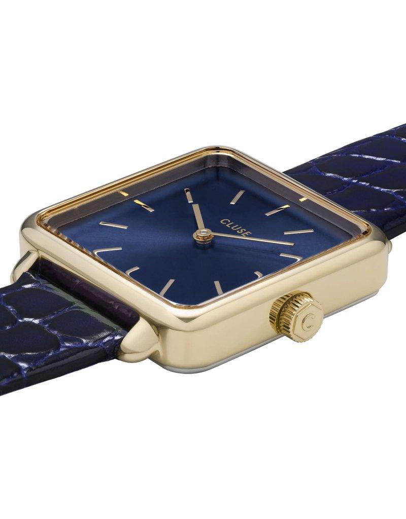 Cluse Cluse CW0101207028 Horloge La Tétragone Gold Blue/Blue Alligator