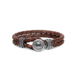 Buddha to Buddha BtoB 220BR E Armband Ben Leather Knot Brown Maat E (19cm)