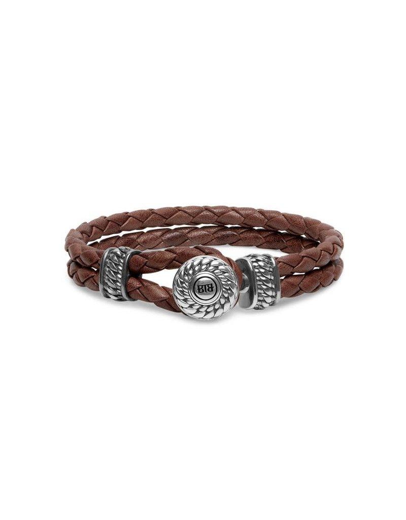 Buddha to Buddha BtoB 220BR E Armband Ben Leather Knot Brown Maat E (19cm)