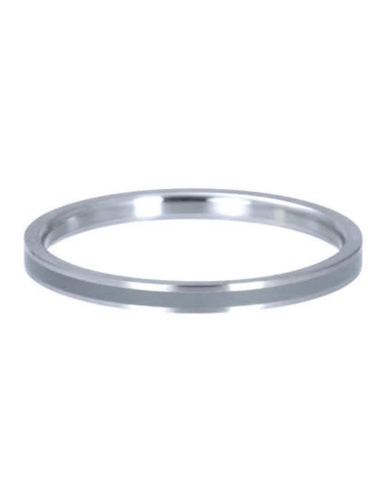 iXXXi iXXXi R02314-04 20 Ring Line Grey zilver kleur Maat 20