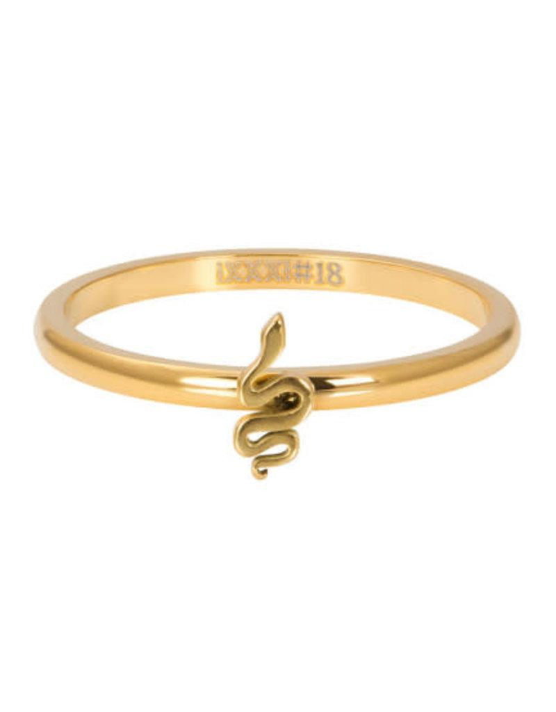 iXXXi iXXXi R03505-01 19 Ring Symbol Snake Goudkleurig Maat 19