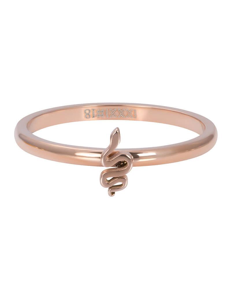 iXXXi iXXXi R03505-02 19 Ring Symbol Snake Rosékleurig Maat 19