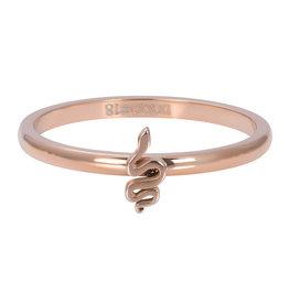 iXXXi iXXXi R03505-02 21 Ring Symbol Snake Rosékleurig Maat 21