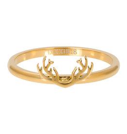 iXXXi iXXXi R03506-01 20 Ring Symbol Antlers Goudkleur Maat 20