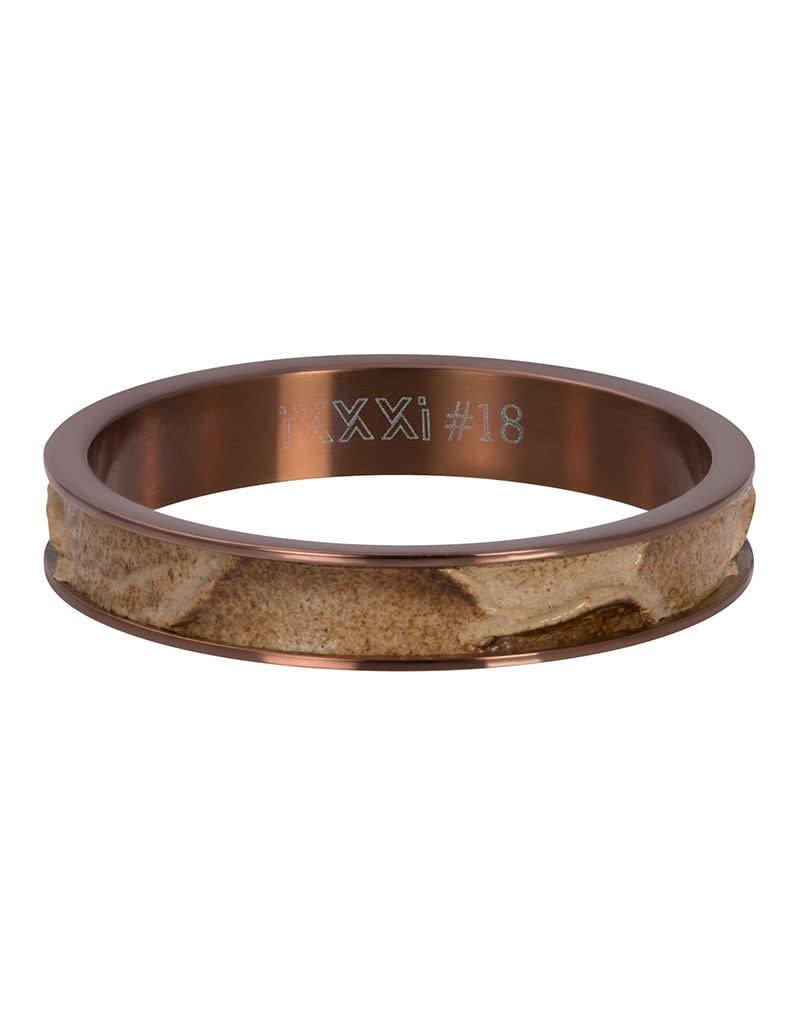 iXXXi iXXXi R05403-09 19 Ring Crocodile Rosékleurig Maat 19