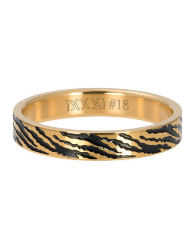 iXXXi iXXXi R05406-01 18 Ring Zebra Goudkleurig Maat 18