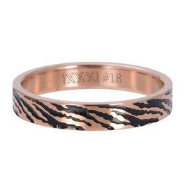iXXXi iXXXi R05406-02 17 Ring Zebra Rosé kleurig Maat 17