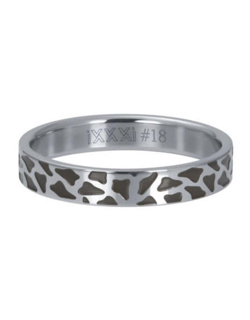 iXXXi iXXXi R05407-03 19 Ring Panther Zilverkleurig Maat 19