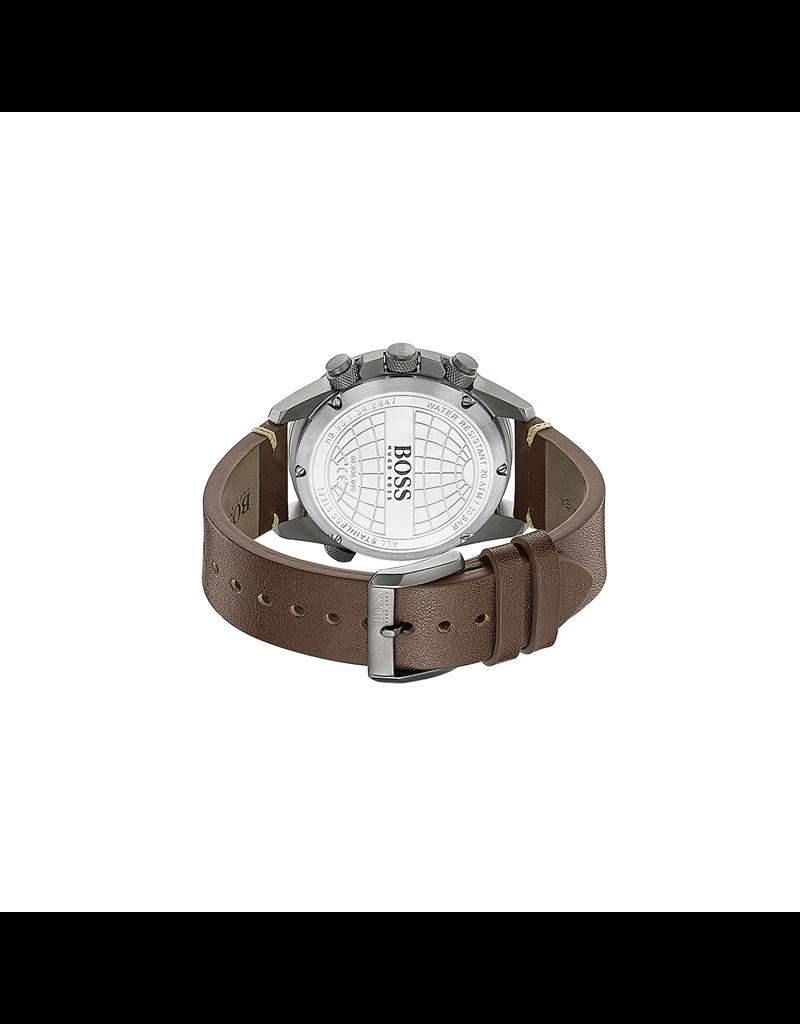 Hugo Boss Hugo Boss HB1513773 Horloge Heren Aero Leer
