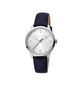 Esprit Esprit ES1L164L0015 Horloge Dames Minimal Silver Leer