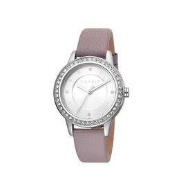 Esprit Esprit ES1L163L0025 Horloge Dames Harmony Silver/Purple Leer