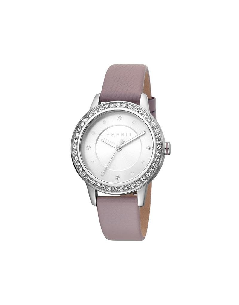 Esprit ES1L163L0025 Horloge Dames Harmony Silver/Purple Leer