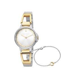 Esprit Esprit ES1L146M0025 Horloge Brace Silver/Gold