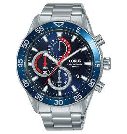 Lorus Lorus RM337FX-9 Horloge Heren Chrono Staal Blauw