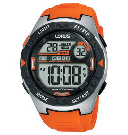 Lorus Lorus R2303NX-9 Horloge Heren Digitaal Silicoon Oranje