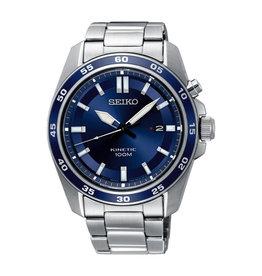 Seiko SKA783P1 Horloge Heren Kinetic Staal Blauw