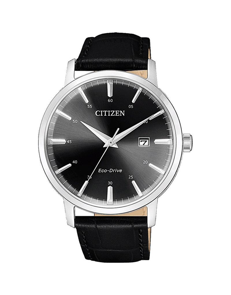 Citizen BM7460-11E Horloge Heren Ecodrive Leer Zwart