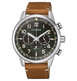 Citizen Citizen CA4420-21X Horloge Heren Ecodrive Chrono Leer Bruin