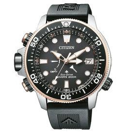 Citizen Citizen BN2037-11E horloge+ Band Promaster Diver Ecodrive Staal/Rosé Zwart
