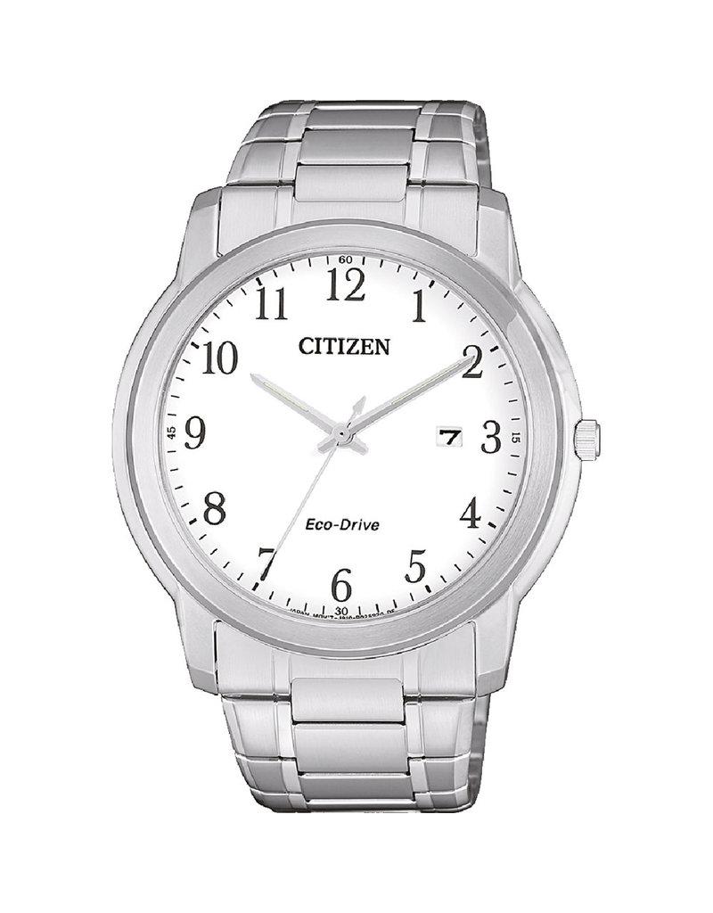 Citizen AW1211-80A Horloge Heren Ecodrive Staal wit