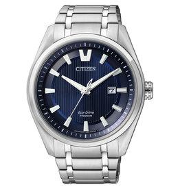 Citizen AW1240-57L Horloge Heren Ecodrive Super Titanium Blauw