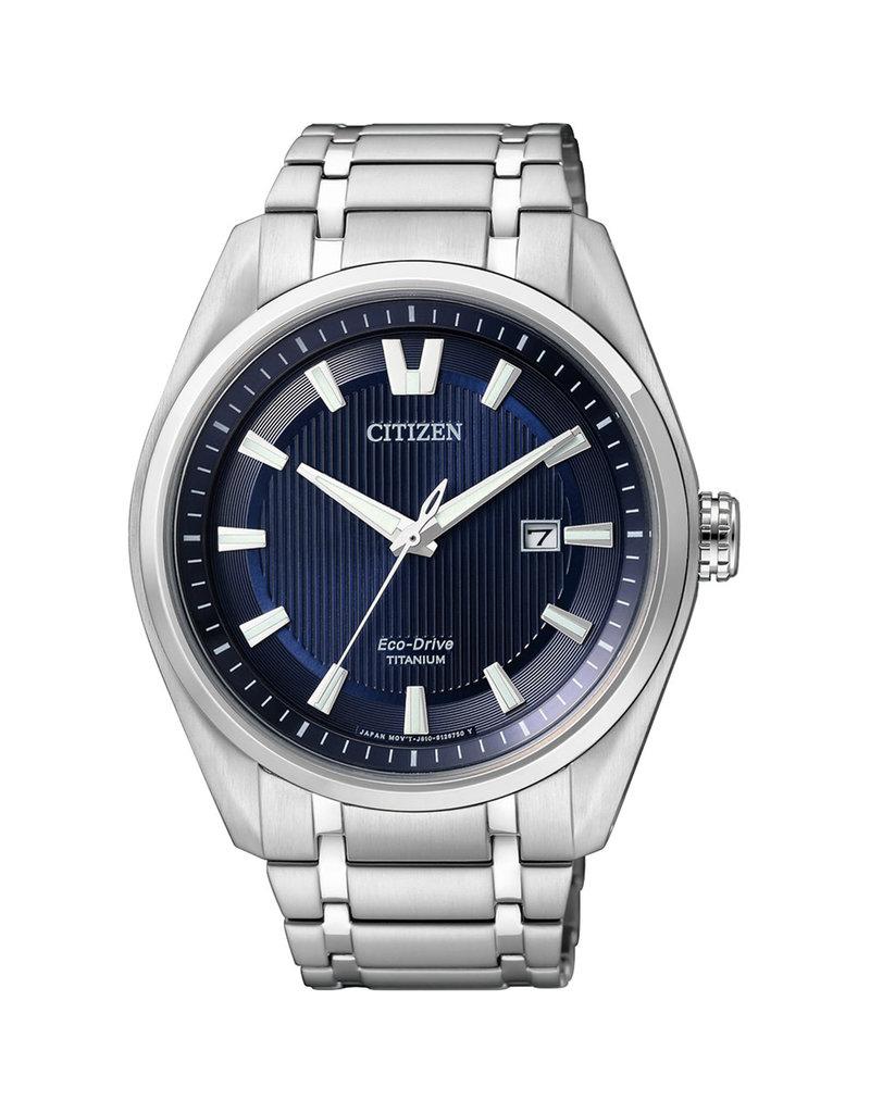 Citizen W1240-57L Horloge Heren Ecodrive Super Titanium Blauw