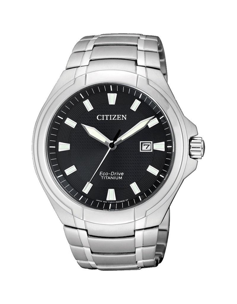 Citizen BM7430-89E Horloge Heren Ecodrive Super Titanium Zwart